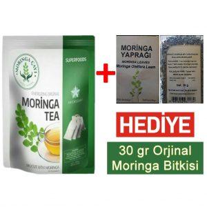 Orjinal Moringa Çayı + Hediye 30gr Moringa Bitkisi