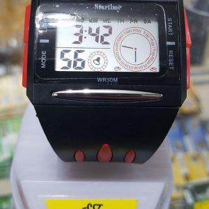 Startime Silikon Dijital Erkek Kol Saati WR30M Kırmızı Avrupa En Uygun Fiyat