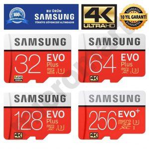 Samsung Evo Plus 32GB 64GB 128GB 256GB Micro SD Hafıza Kartı Avrupa En Ucuz Fiyat