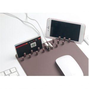 Telefon Standlı Kablo Tutuculu Çok Fonksiyonlu Stand Mouse Pad Avrupa Sipariş