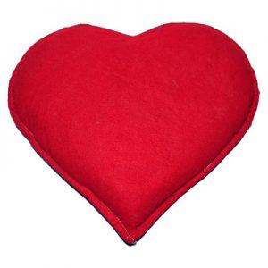 Tuz Yastığı Kalp Desenli Mor - Kırmızı 2.5Kg
