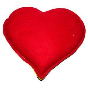 Tuz Yastığı Kalp Desenli Sarı - Kırmızı 2.5Kg
