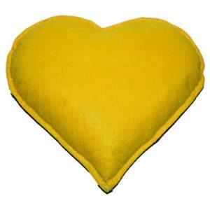 Tuz Yastığı Kalp Desenli Sarı - Larcivert 2.5Kg