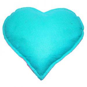 Tuz Yastığı Kalp Desenli Yeşil - Pembe 2.5Kg