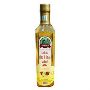 Yedier Katkısız Saf Doğal Fermente Elma Limon Sirkesi 500 Ml