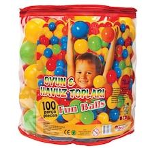 Mamaş Oyun ve Havuz Topu 7,5cm 100'lü PVC Torbada Çocuk Oyun Top