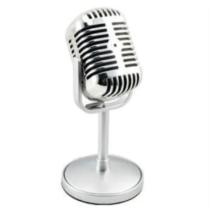Karaoke Mikrofon Vintage Nostaljik Pc Mikrofon Ev Parti Eğlence