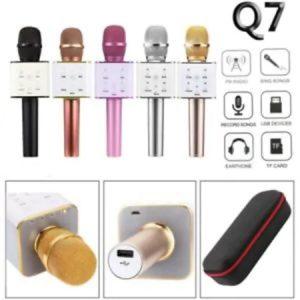 Q7 KARAOKE BLUETOOTH MİKROFON HOPARLÖR USB MP3 ÇALARLI ÇANTALI