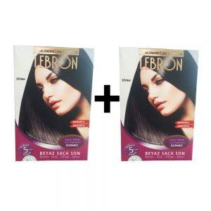 Lebron Renklendirici Saç Şampuanı Siyah 1 Alana +1 Bedava