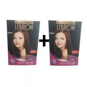 Lebron Renklendirici Saç Şampuanı Kahve 1 Alana +1 Bedava