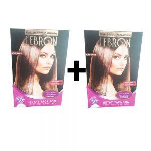 Lebron Renklendirici Saç Şampuanı Koyu Kahve 1 Alana +1 Bedava