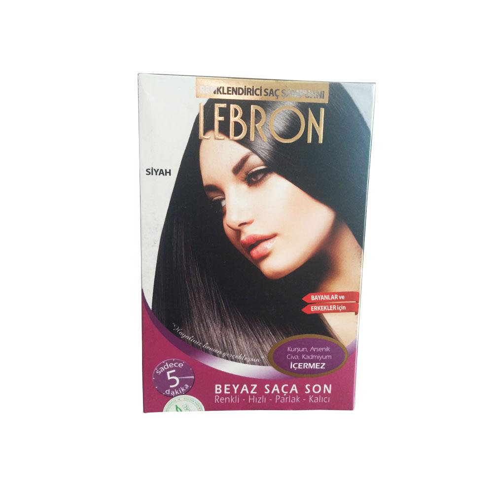 Lebron Renklendirici Saç Şampuanı Siyah