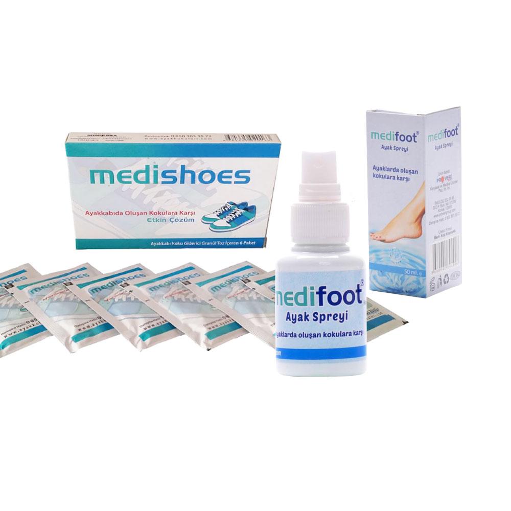 Medishoes Ayakkabı Koku Giderici ve Medifoot Ayak Spreyi