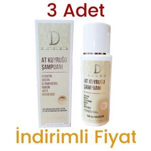 3 Adet Diona At Kuyruğu Şampuan 3 x 300 ML