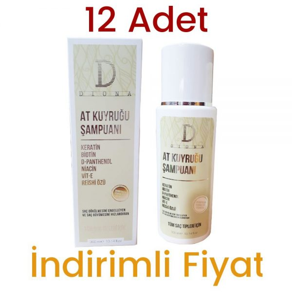 12 Adet Diona At Kuyruğu Şampuan 12 x 300 ML