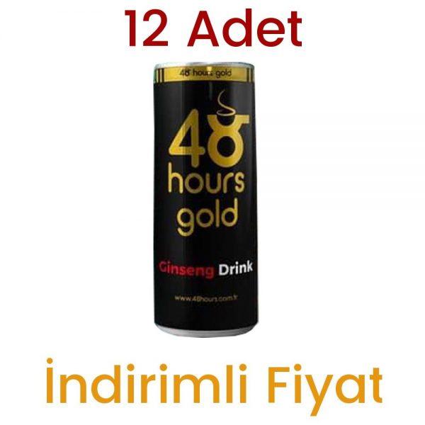 12 Adet 48 Hours Gold Ginseng Drink Enerji İçeceği
