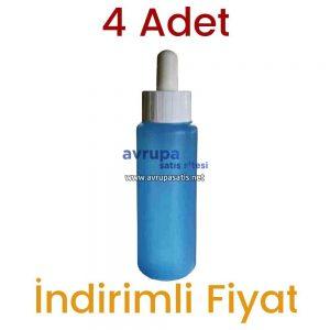 4 Adet Mavi Saç Losyonu + 1 Adet Dermoroller 540 İğneli 1 mm + 1 Adet Saç Bakım Yağı + 1 Adet Tahta Tarak  4 x 60 ML