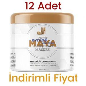 12 Adet Peptit Maya Maskesi 12 x 250 GR