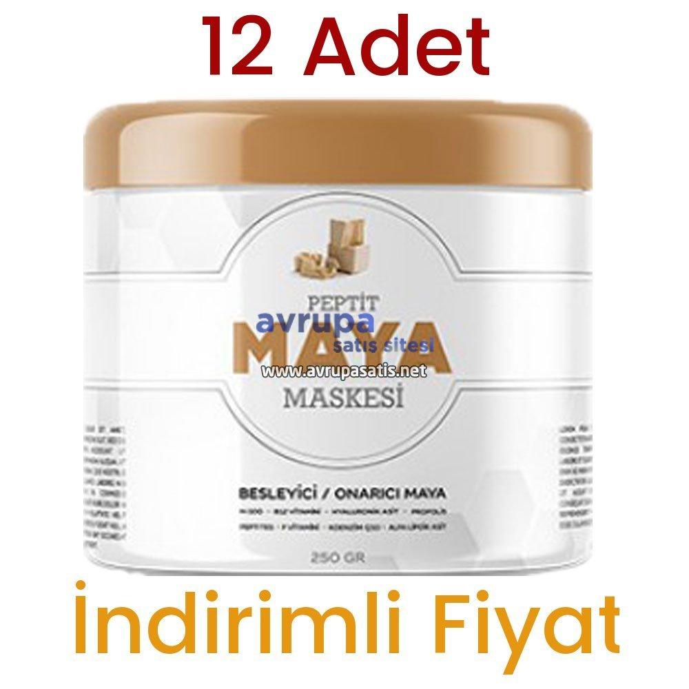 12 Adet Peptit Maya Maskesi
