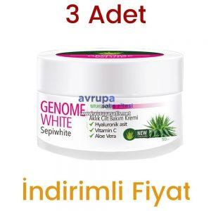 3 Adet Genome White Aklık Kremi 3 x 50 ML