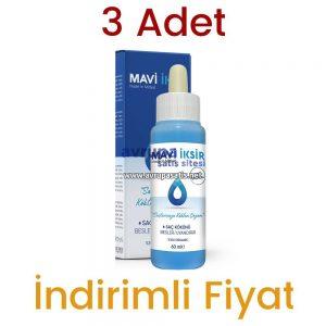 3 Adet Mavi İksir Mardin Midyat Saç Losyonu Orjinal 3 x 60 ML