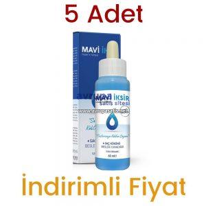 5 Adet Mavi İksir Mardin Midyat Saç Losyonu Orjinal 5 x 60 ML