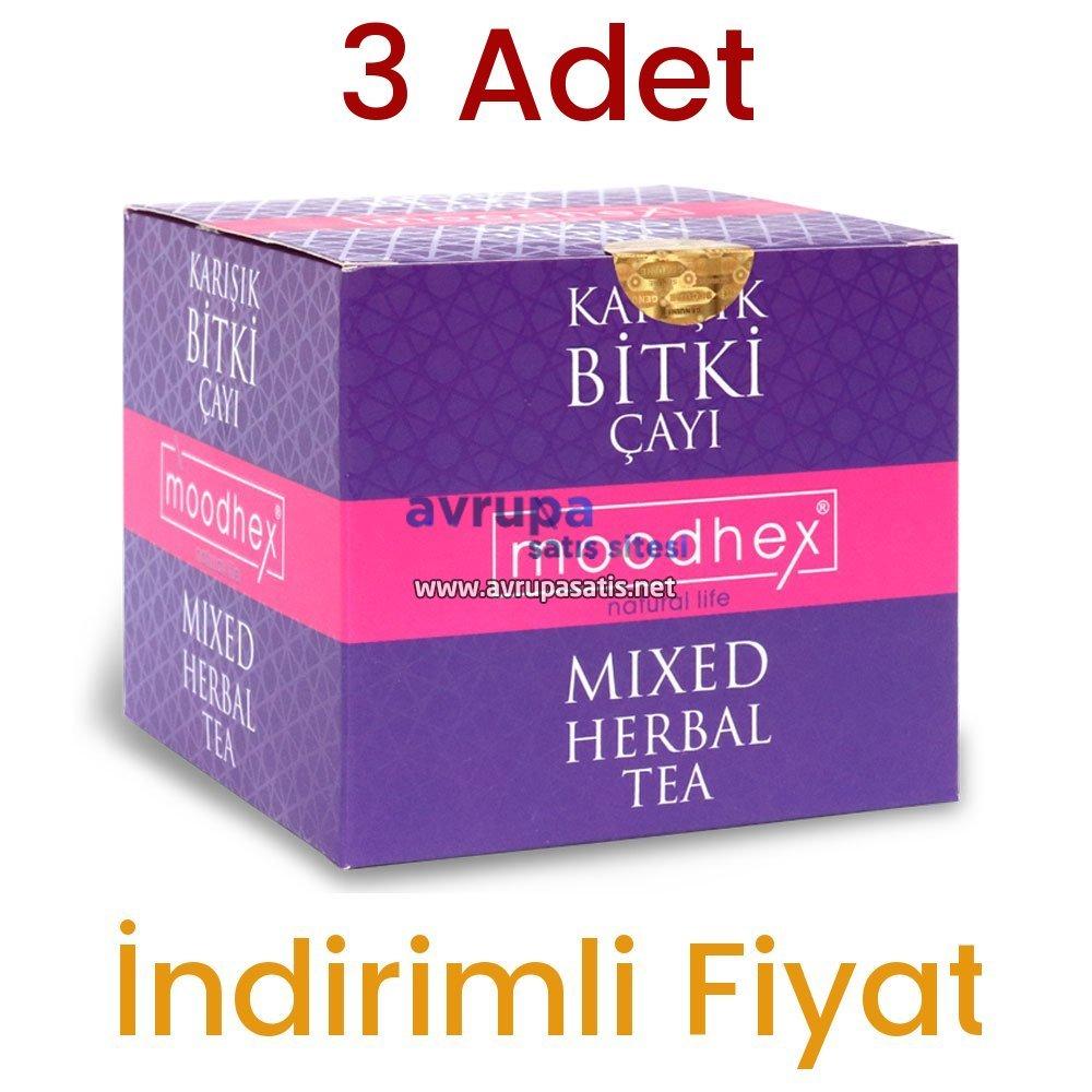 3 Adet Moodhex Karışık Bitki Çayı 45x3 Günlük