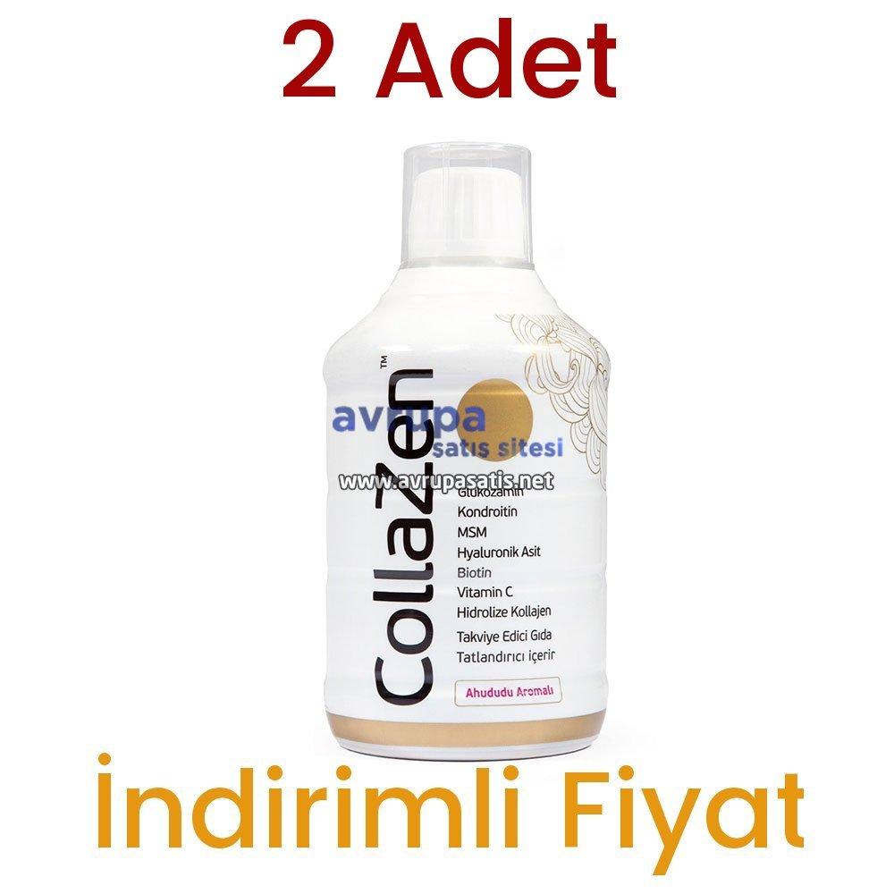 2 Adet Collazen Hidrolize Ahududulu Kollajen Sıvı Glukozamin Msm
