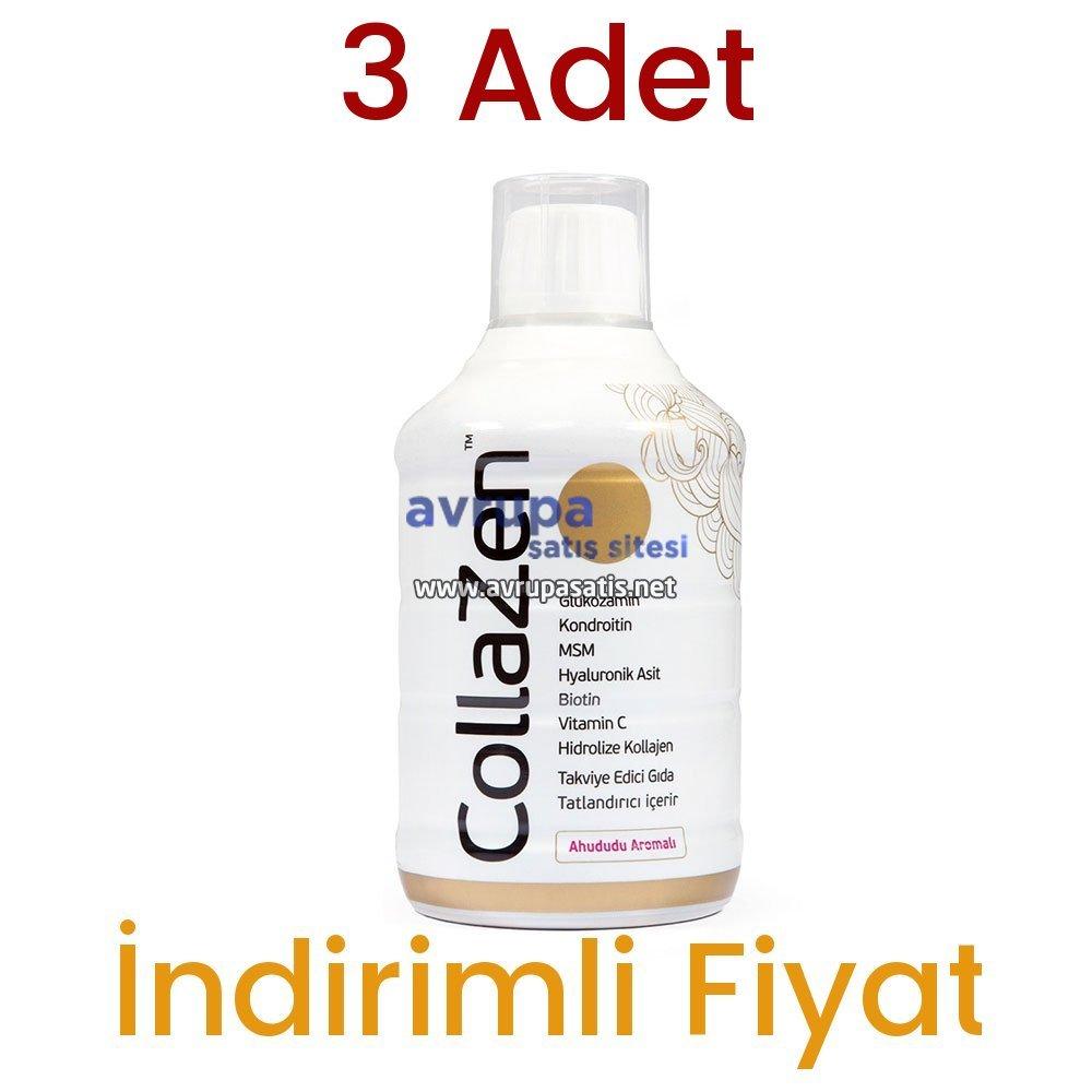 3 Adet Collazen Hidrolize Ahududulu Kollajen Sıvı Glukozamin Msm