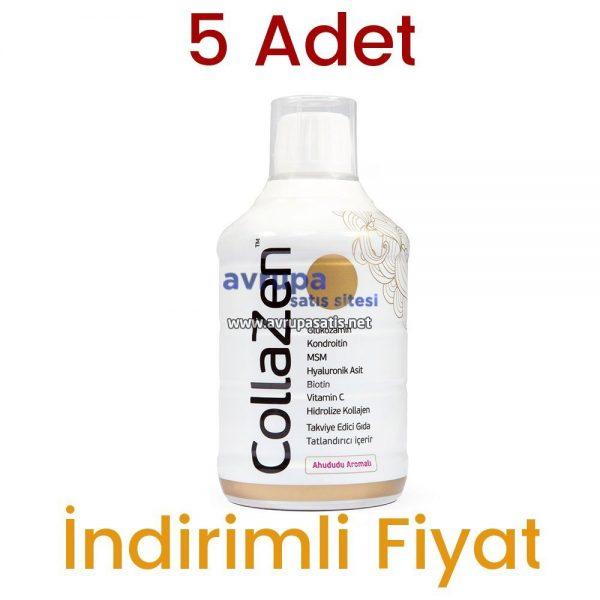 5 Adet Collazen Hidrolize Ahududulu Kollajen Sıvı Glukozamin Msm 5 x 500 ML