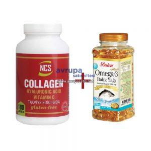 NCS Collagen Hyaluronic Acid Vitamin C ve Balen Omega 3 Balık Yağı Kapsül
