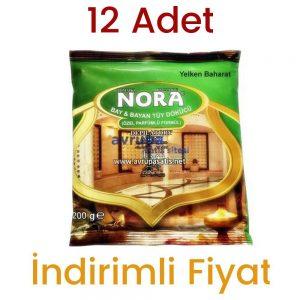 12 Paket Nora Tüy Dökücü Hamam Otu Tozu 12X200gr