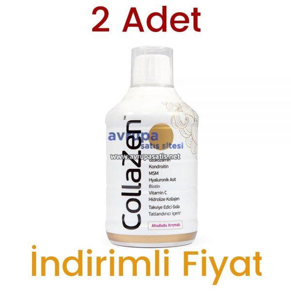 2 Adet Collazen Hidrolize Ahududulu Kollajen Sıvı Glukozamin Msm 2 x 500 ML