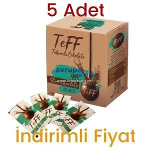 5 Adet Teff Tohumlu Çikolata 150 Günlük Kullanım