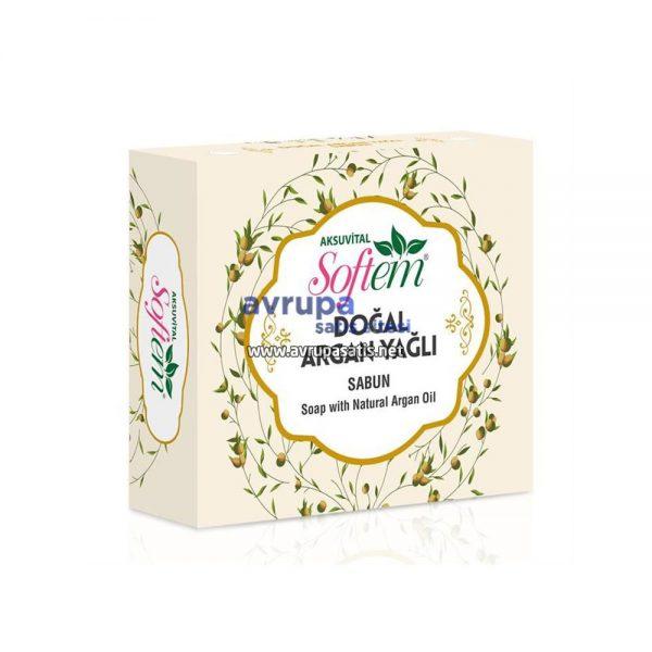 Aksuvital Softem Doğal Argan Yağlı Sabun 130  GR