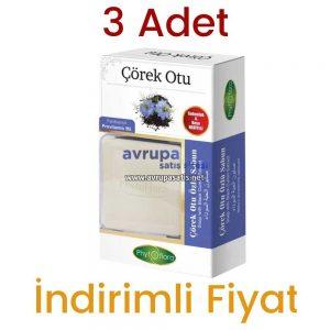 3 Adet Phytoflora Çörek Otu Özlü Sabun 3 x 125 GR  (Sabunluk ve Kese Hediyeli)