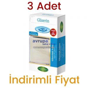 3 Adet Phytoflora Gliserinli Sabun 3 x 125 GR (Kese ve Sabunluk Hediyeli)