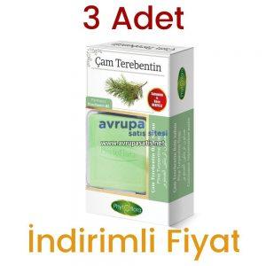 3 Adet Phytoflora Çam Terebentin Özlü Sabun (Kese ve Sabunluk Hediyeli) 3 x 125 GR