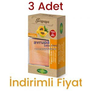 3 Adet Phytoflora Papaya Özlü Sabun (Kese ve Sabunluk Hediyeli Sabun)