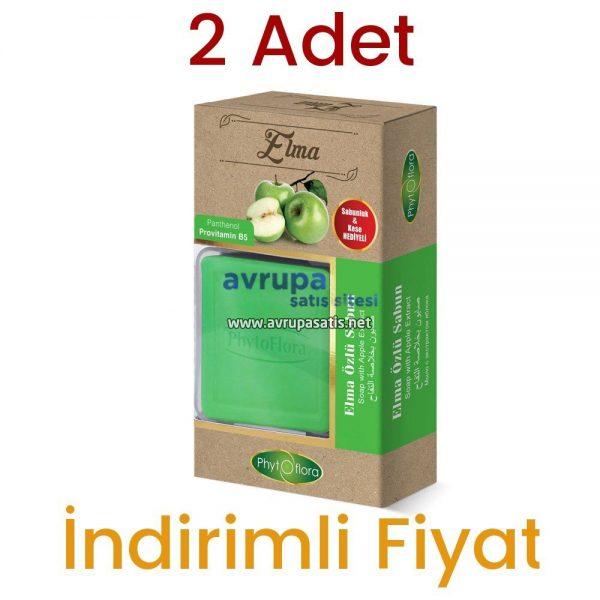 2 Adet Phytoflora Elma Özlü Sabun (Kese ve Sabunluk Hediyeli)