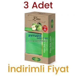 3 Adet Phytoflora Elma Özlü Sabun (Kese ve Sabunluk Hediyeli)