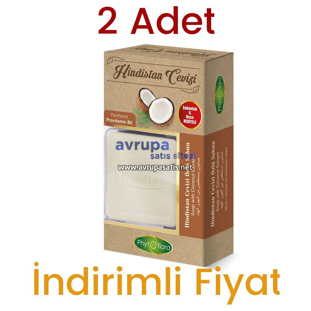 2 Adet Phytoflora Hindistan Cevizli Sabun