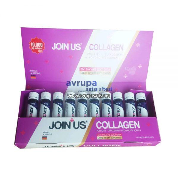 Join Us Collagen Kollajen Glukozamin ve Kondroitin İçeren Sıvı Takviye Edici Gıda 25Mlx10