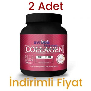 2 Adet Hud Collagen Plus Toz Kolajen Powder 2 x 300 GR
