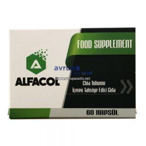 Alfacol Chia Tohumu İçeren Takviye Edici Gıda 60 Kapsül