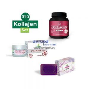 Collagen Kollajen 3'lü Set (Kollajen Toz Sabun Krem)