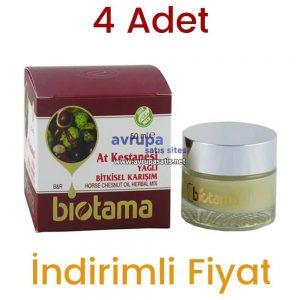 4 Adet Biotama At Kestanesi Yağlı Bitkisel Karışım Krem 4 x 50 ML