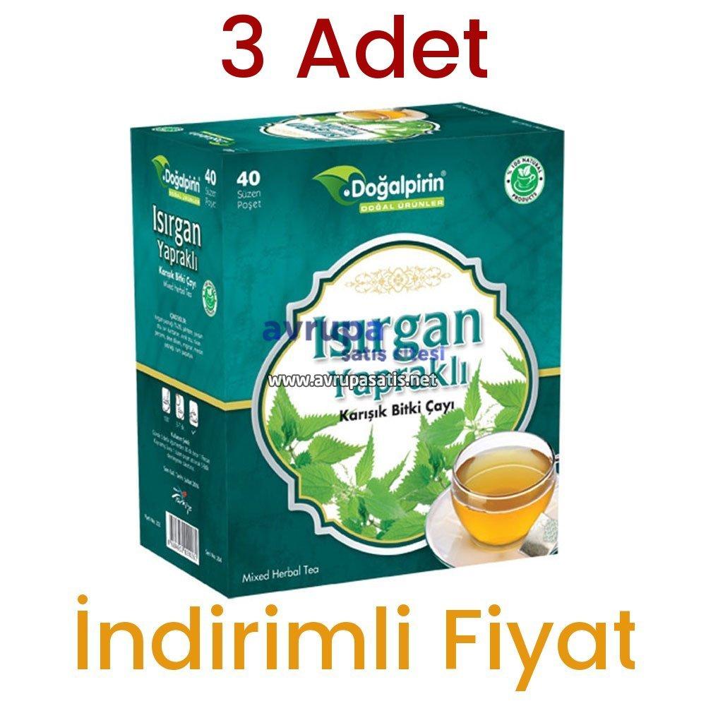 3 Adet Doğalpirin Isırgan Yapraklı Çay 40 Süzen Poşet