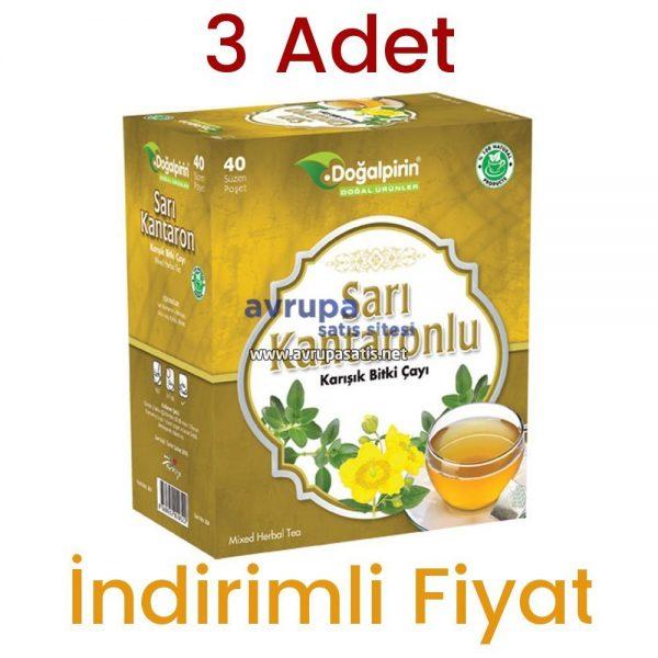 3 Adet Doğalpirin Sarı Kantaronlu Çay 40 Süzen Poşet