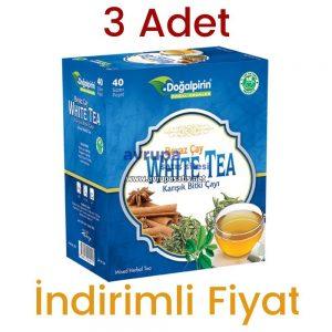 3 Adet Doğalpirin Beyaz Çay Karışık Bitki Çayı 40 Süzen Poşet